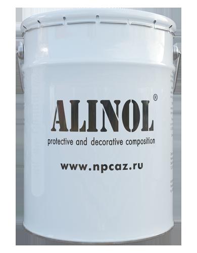 Composición protectora y decorativa Alinol